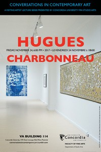CICA Presents Hugues Charbonneau - Friday, November 24 at 6pm, VA-114