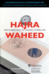 CICA Presents Hajra Waheed - Friday, November 3 at 6pm, VA-114