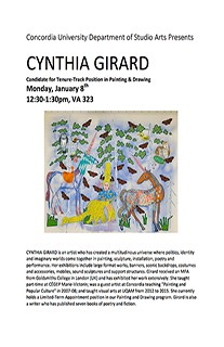 Painting and Drawing Artist Talks: CYNTHIA GIRARD