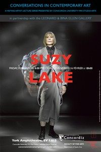 CICA and the Leonard & Bina Ellen Gallery Present Suzy Lake - Feb. 16, 6pm, EV 1.615