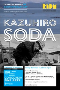 CICA Presents Kazuhiro Soda - Friday, Nov. 16 at 6pm in VA-114