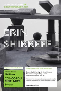 CICA Presents Erin Shirreff - Friday, Jan. 18, 6pm at the Deseve Cinema
