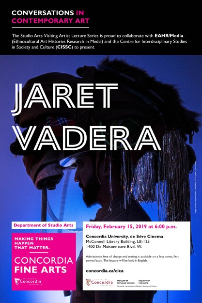 CICA Presents Jaret Vadera - Friday, Feb. 15. 6:00pm at the Deseve Cinema