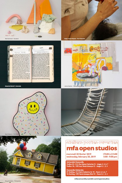 MFA OPEN STUDIOS! Feb. 20, 5-9 in the EV and VA Buildings