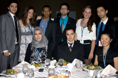 IIE Concordia Executive Committee (top to bottom): Tony Toteda (VP Sponsorships), Alexandra Katakis (VP Internal), Mohamed Maguiraga (VP Communications), Adnan Ali (VP External Affairs), Karoline Pepin (VP Finance), Gregory Ning (President), Maryam Raza (VP Conference), Anas Baddyr (VP Social), Gabrielle Ouellet (VP Academic). | Photo courtesy of IIE Concordia.