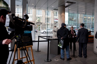 Media from across Canada covered the public unveiling of The Starving of Saqqara.