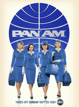 Pan Am premiered this fall on ABC with a strong female cast. From left to right: Margot Robbie, Christina Ricci, Quebec-born actor Karine Vanasse and Kelli Garner. | Photo courtesy of ABC Network