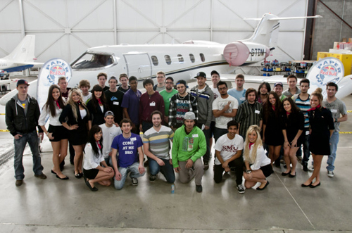 Competitors assembled at Mississauga's MX Aerospace Centre.