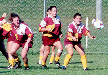 Wednesday's rugby game against McGill honours Kelly-Anne Drummond (centre). | Photo by Derek Dugas