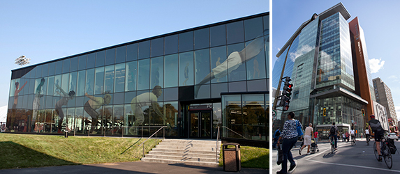 The PERFORM Centre and Molson Building were recently LEED certified. | Photos by Concordia University