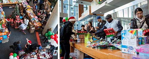 For a donation, shoppers filled the shoeboxes with toys of their choice. Members of the DSSA found sponsors to provide toys with which to fill the boxes. | Photo by Concordia University