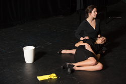 Samantha Levine and Roxanne Loumede perform in Whirligig, an adaption of Jean Genet's The Maids. | Photo by Concordia University
