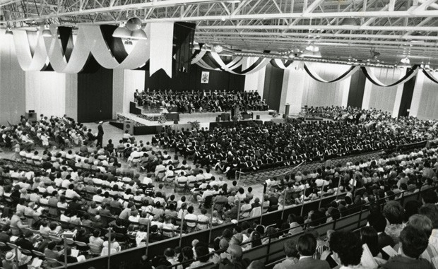 Convocation at the arena