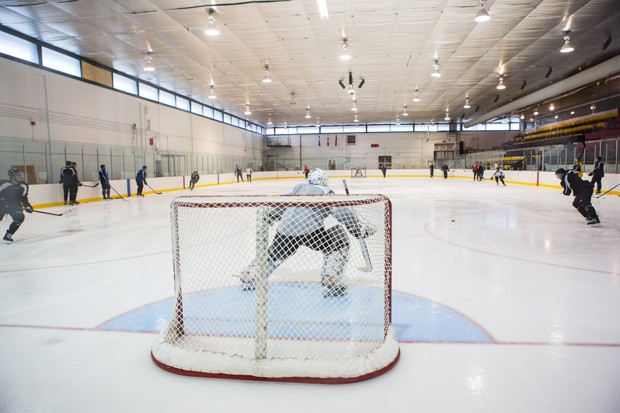 The Ed Meagher Arena now boasts an NHL-standard rink
