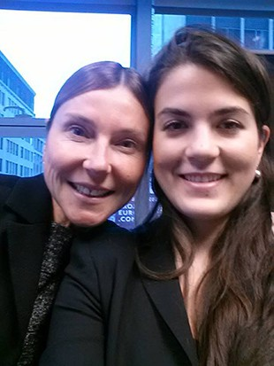 Videotron COO Manon Brouillette and JMSB student Katerina Fragos