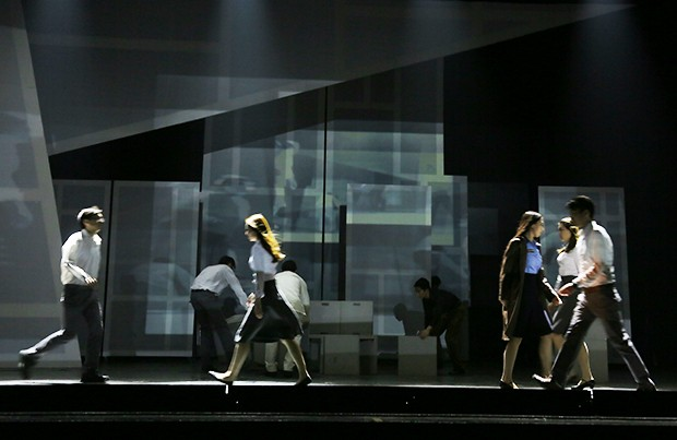 The play Like Shadows represented the biggest stage yet for a new digital technology pioneered by Concordians Miao Song and Serguei Mokhov.