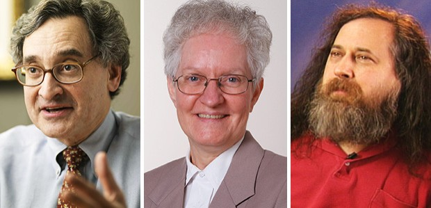 The university's latest honorands: Michael Sabia, Sister Jacqueline St-Yves and Richard Stallman.