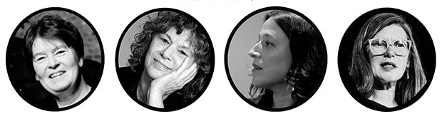 From left to right: Nicole Brossard, Gail Scott, Rachel Levitsky and Lisa Robertson.