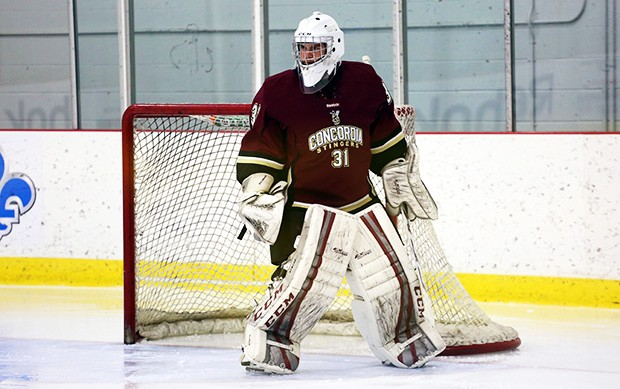 Goalie Robin Billingham is ranked third in the OUA for number of shots blocked, with 217 saves so far this season