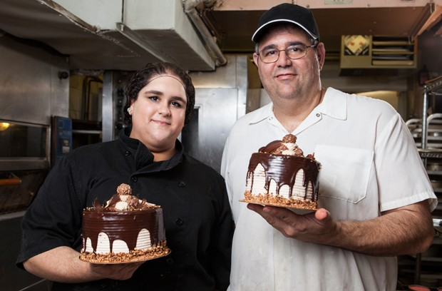 Father daughter team Enrico and Erika Cimino at Boulangerie & Pâtisserie Salerno in Montreal. Enrico is the owner/ operator of the business with his father Antonio who opened the bakery in 1965. Salerno's is open 24 hours a day, 7 days a week, 365 days a year.