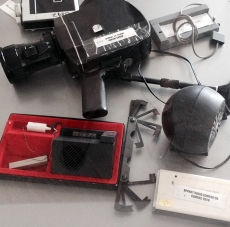 The tools of spy craft used by Romania's former Communist secret police included universal lock picks and early recording devices. | Photo courtesy of Lucian Turcescu.