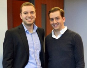 BottleBookings.com founders Steven Scalia (left) and Angelo Esposito