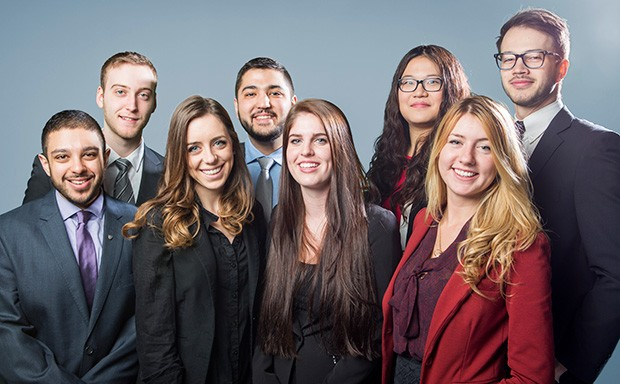 The organizing committee of the second annual Engineering and Commerce Case Competition.