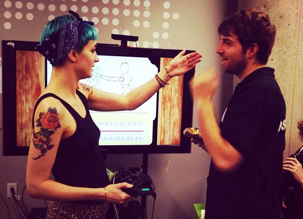 In Tune involves two people exploring touch through continual communication. | Photos courtesy Tweed Couch Games