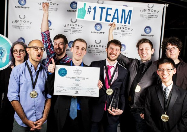 Concordia's Ravens team at the 2015 Ubisoft Game Lab Competition