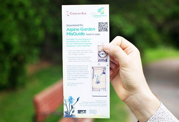 "The Alpine Garden MisGuide seeks to ""play with garden visitors' expectations."""