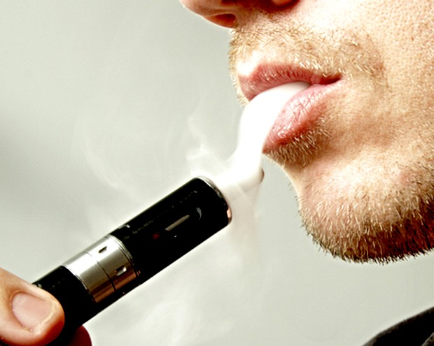 E cig liquid on tongue