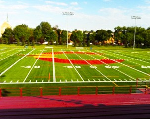 Concordia's first look at the new Stingers field-and-logo combo