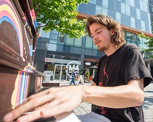 The secret history of Concordia's street piano