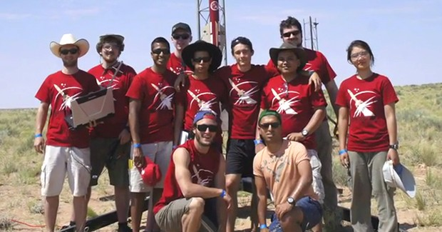 Space Concordia's Rocketry Division team on site in Utah.