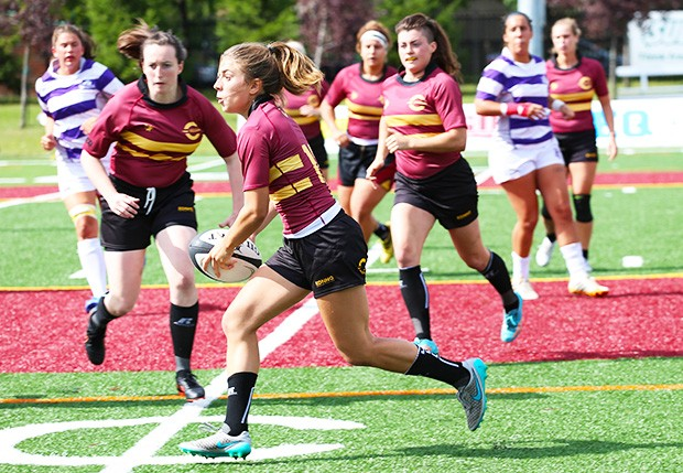Frédérique Rajotte (pictured), centre for the Concordia Stingers women's rugby team, has been selected to play for Team Canada.