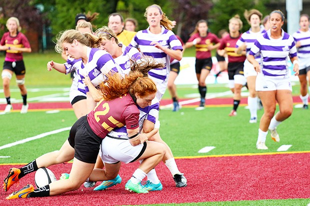 Third-year Stingers Alexandra Tessier represented Canada in the Women's Rugby Super Series last summer.