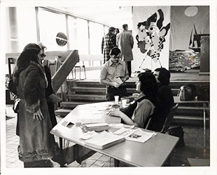 The Communication Arts Open House, in 1974.  Courtesy of Records Management and Archives
