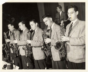 The Johnny Holmes Orchestra on stage at Victoria Hall. | Courtesy: Records Management and Archives