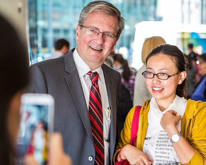 Concordia's president hosts 2 back-to-school events