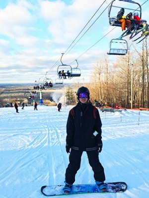 Since coming to Canada, Ban Wang has taken the opportunity to pursue his love of winter sports.