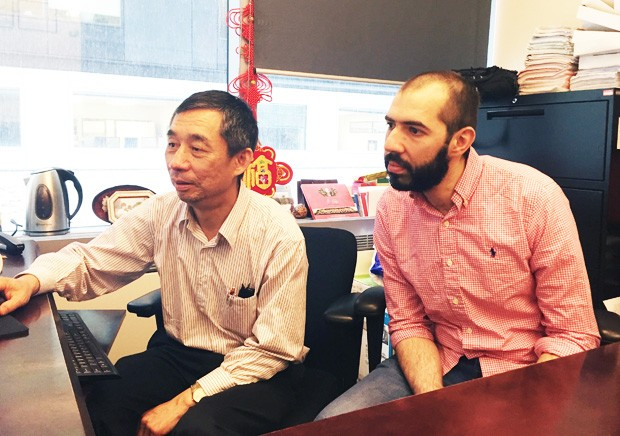 From left: Professor Mingyuan Chen and PhD candidate Omar Abuobidalla.