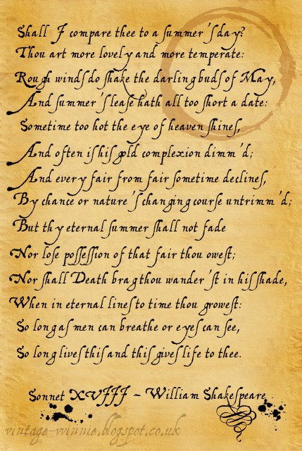Essay on sonnet 18