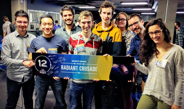Team Concordia at the 2016 Ubisoft Game Lab Competition.