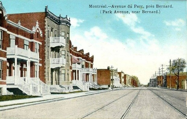 Colorized postcard, ca. 1910. BAnQ, P547S1SS1SSS1D002P1771R. | Image courtesy of Mile End Memories