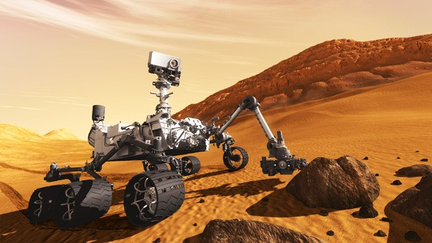 The Curiosity rover, the design basis for the Mars 2020 rover. | Image via Wikipedia