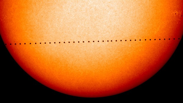 A Mercury transit is estimated to occur about 13 times every 100 years, says Mario D'Amico, part-time professor in Concordia's Department of Physics. | Image courtesy of NASA
