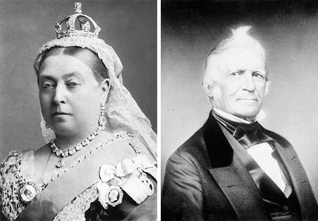 Queen Victoria and the best known Patriote, Louis-Joseph Papineau.