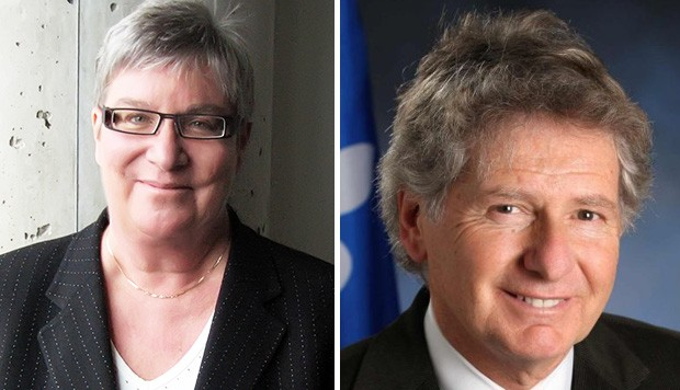 Louise Dandurand (left) and John Parisella have been named officers of the Ordre Nationale du Québec.