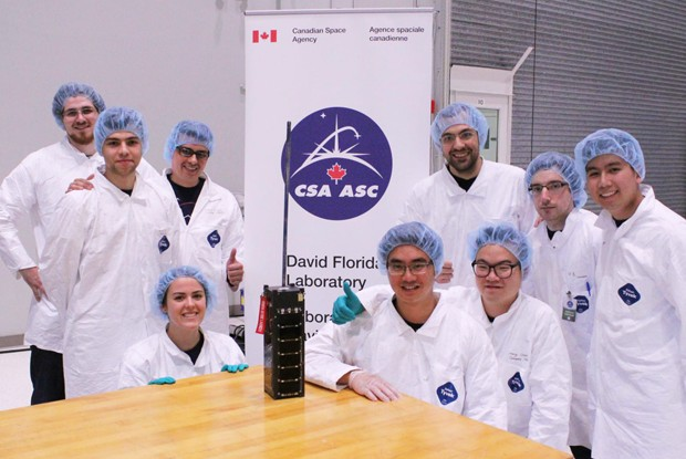 The Space Concordia team placed first at the Canadian Satellite Design Challenge.