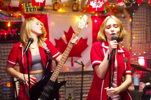 Yoga Hosers stars Johnny Depp's daughter Lily-Rose Depp (right) and Kevin Smith's daughter Harley Quinn Smith.
